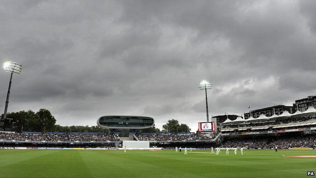 Storm clouds above Lords Cricket Ground in August 2010