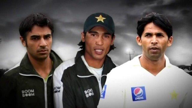 Salman Butt, Mohammad Amir and Mohammad Asif