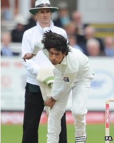 Mohammad Amir at the 4th test at Lord's, 27/08/2010