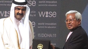 Sir Fazle Hasan Abed receiving WISE Prize