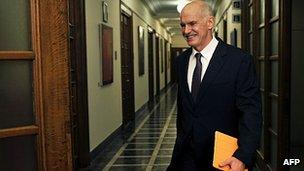 Greek PM Papandreou 1 Nov 2011