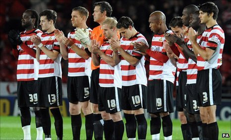 Billy Sharp with his Doncaster team