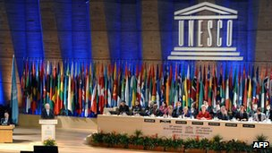 Meeting of Unesco's General Conference in Paris - 31 October 2011