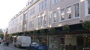 F Le Gallais and Sons furniture shop in Bath Street