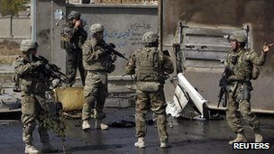 US soldiers in Kabul, 29 Oct