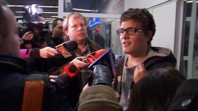 Passengers on Polish plane that made an emergency landing