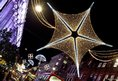 The Oxford Street Christmas lights in London which were turned on by girl band The Saturdays