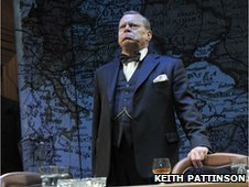Warren Clarke as Winston Churchill in the play Three Days in May