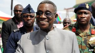 Ghana&#039;s President John Atta Mills (15 December 2010)