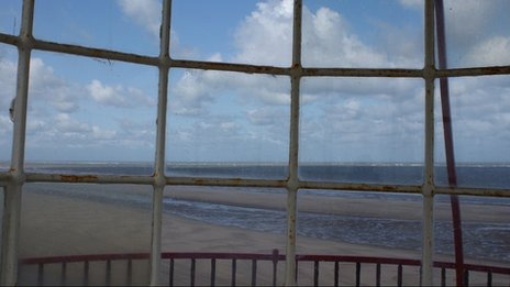 Sea view from lighthouse on Talacre beach