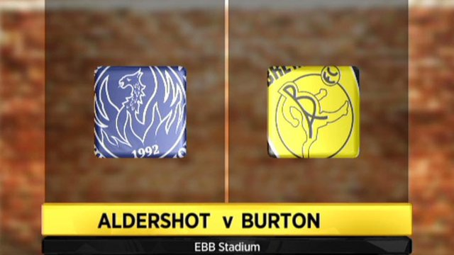 Highlights - Aldershot 2-0 Burton