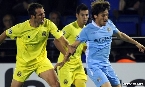 Spain&#039;s David Silva (right) impressed again for Manchester City