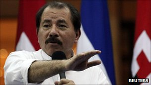 Nicaraguan President Daniel Ortega, 31 October 2011