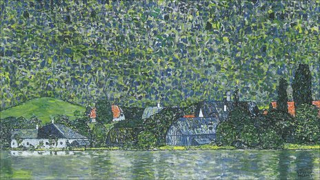 Litzlberg on the Attersee by Gustav Klimt (detail)