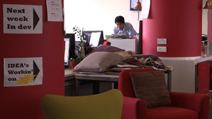 Ning Li in his office