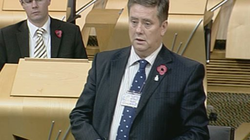 Transport and Housing Minister Keith Brown leads the veterans debate
