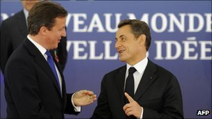 David Cameron and Nicolas Sarkozy in Cannes