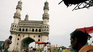 Hyderabad's historic Charminar district