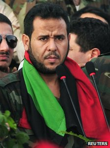 Libyan military leader Abdulhakim Belhadj in Benghazi, October 2011 