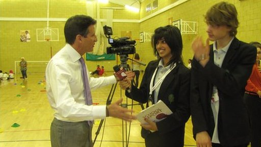 Lord Coe interviwed by two School Reporters