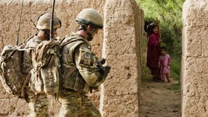 British troops on patrol in Helmand