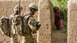 British troops on patrol in Helmand