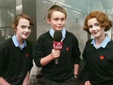 School Reporters Amy, Finn and Chloe