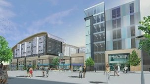 Artists impression of redevelopment. Photo: Gateshead council