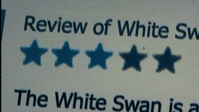 Still of internet review website