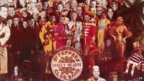 The adapted artwork for Sgt Pepper's Lonely Hearts Club Band