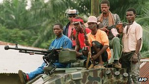 Gunmen in Liberia (archive shot)