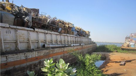 Barges at Kosti in Sudan