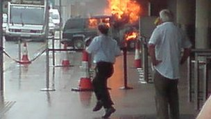 Failed attack on Glasgow Airport, June 2007. Photo: Thomas Conroy