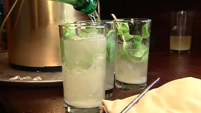 Mojito cocktails on a bar