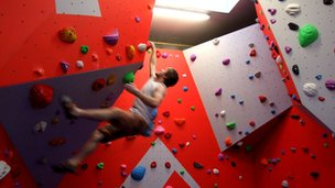 Bouldering wall at Harlech Pool. Picture: Dream Climbing Walls