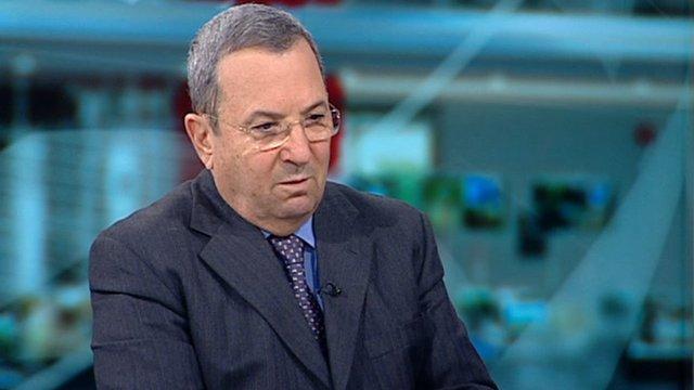 Ehud Barak, Israel's defence minister
