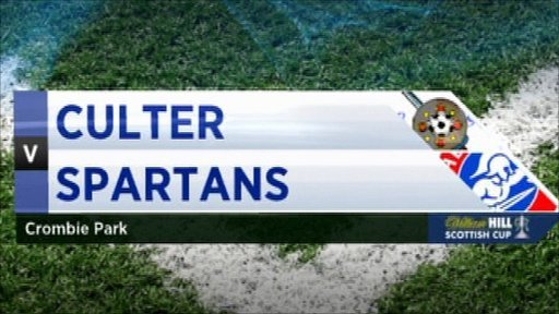 Scottish Cup - Culter 0-2 Spartans