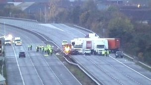 M5 crash scene
