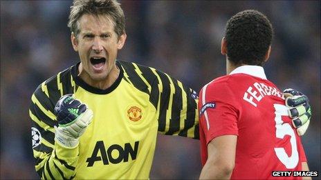 Former Manchester United goalkeeper Edwin van der Sar