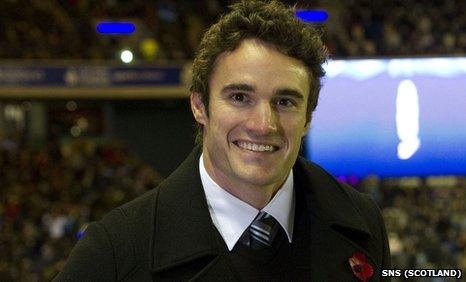 Former Scotland rugby winger Thom Evans