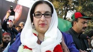 Benazir Bhutto campaigning in Rawalpindi, Pakistan - 27 December 2007