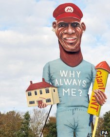 Mario Balotelli effigy