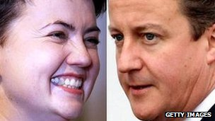 Ruth Davidson and David Cameron