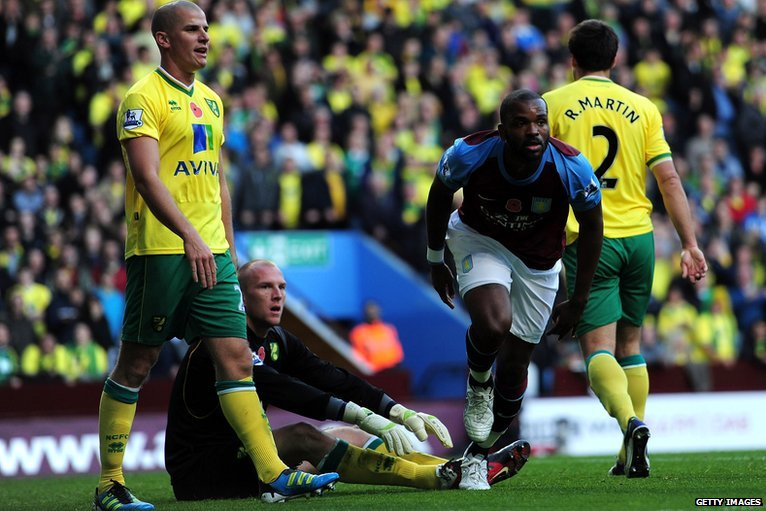 Darren Bent scores for Aston Villa