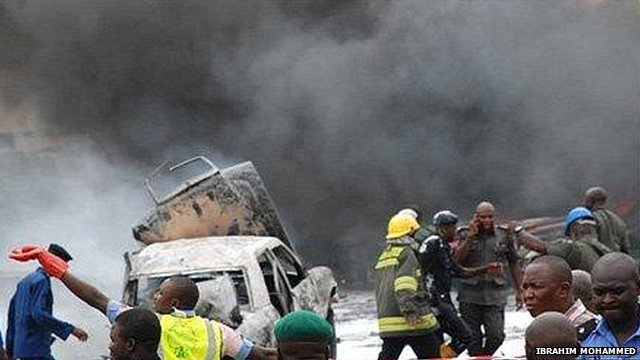 Aftermath of Boko Haram's attack on Abuja's police HQ in June