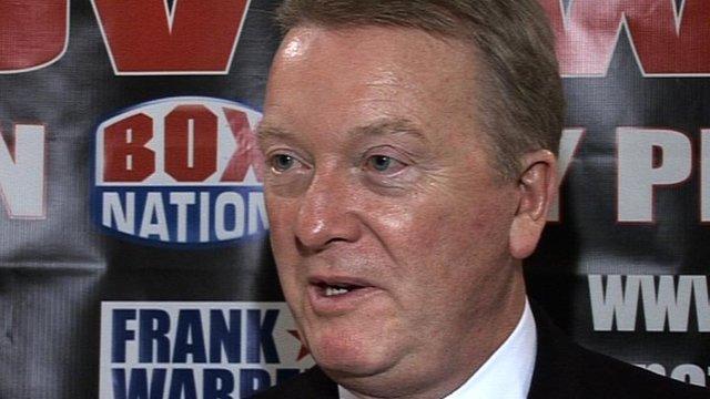 Boxing promoter Frank Warren
