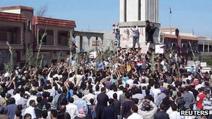 Anti-government protest in Hula, Syria (undated image received 4 Nov 2011)