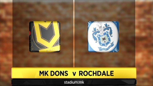 MK Dons v Rochdale