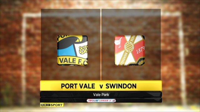 Port Vale 0-2 Swindon