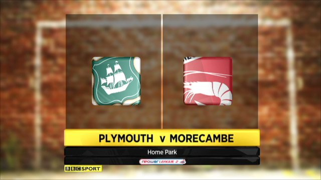 Plymouth 1-1 Morecambe